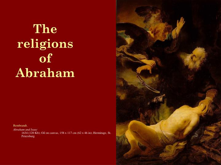 The religions of abraham