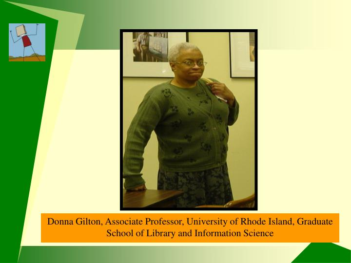 Donna Gilton, Associate Professor, URI