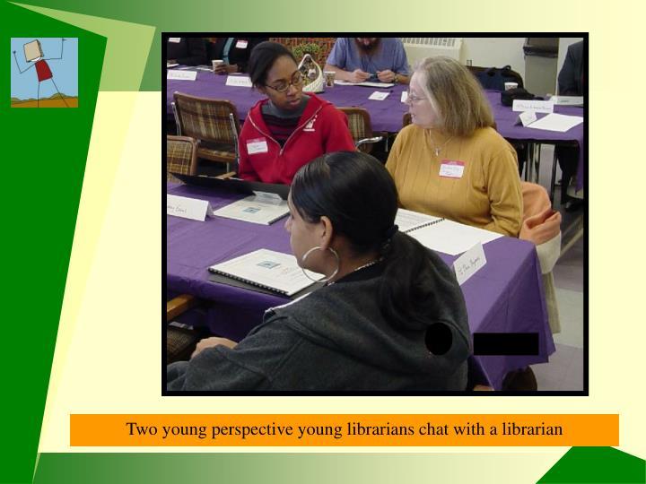 Program participants chatting