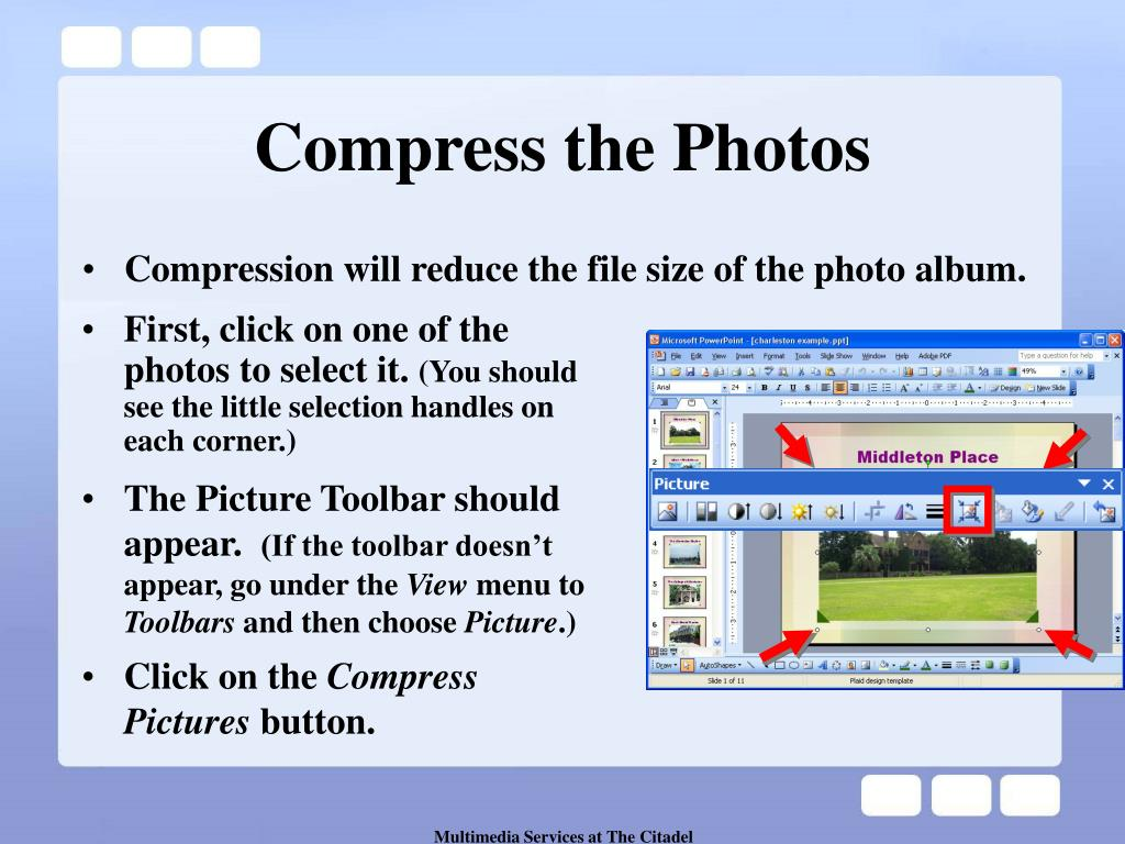 Compress the Photos