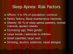 sleep apnea risk factors