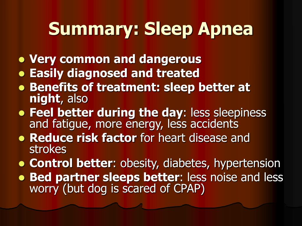 Summary: Sleep Apnea
