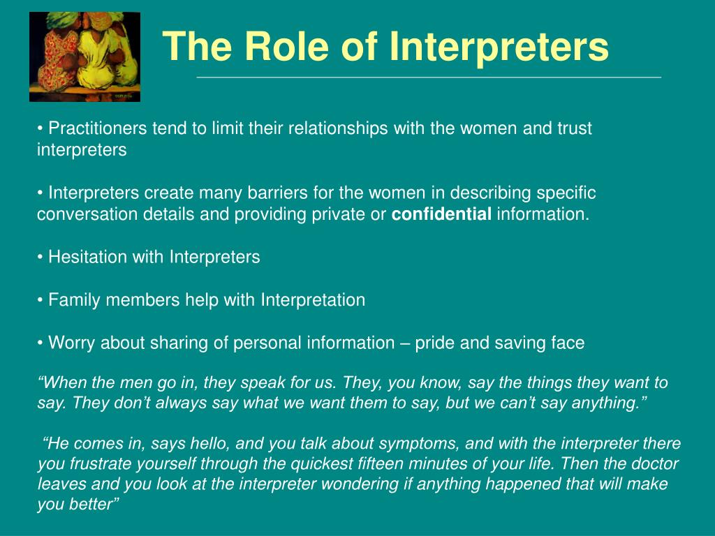 The Role of Interpreters