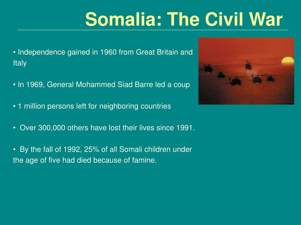 Somalia: The Civil War
