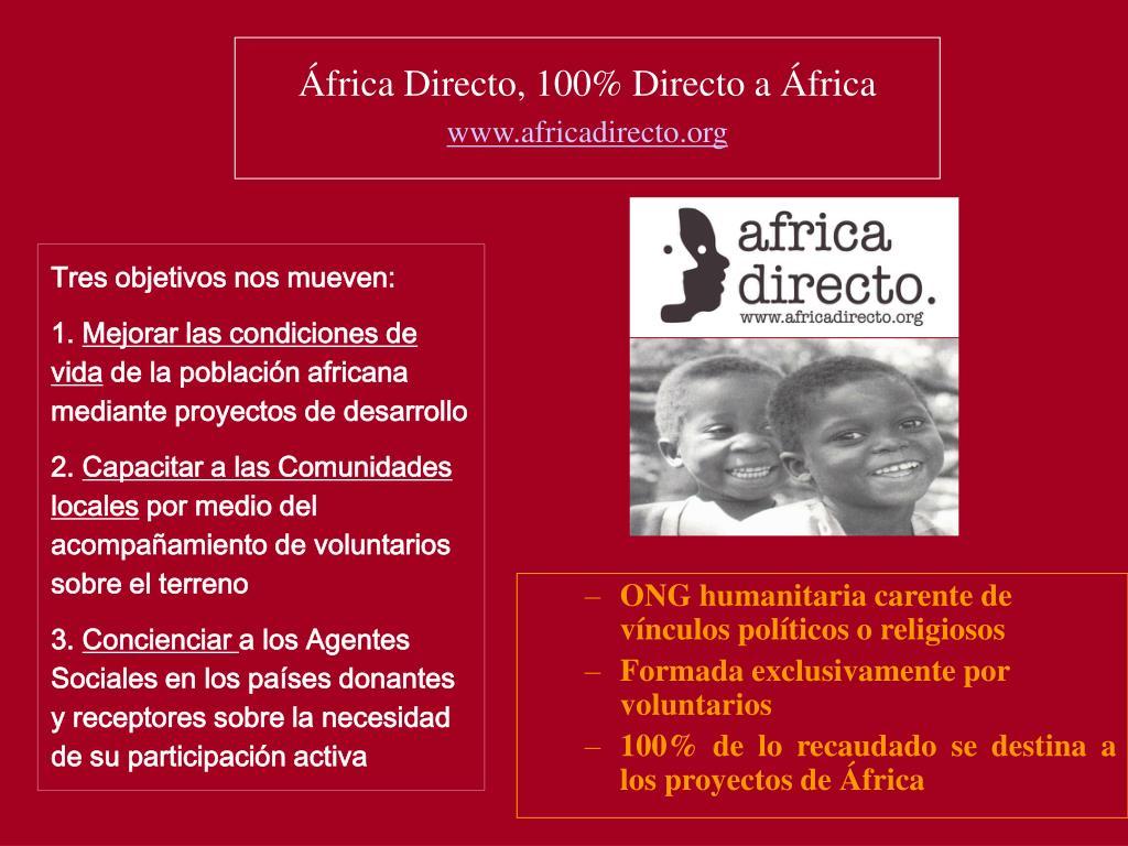 África Directo, 100% Directo a África