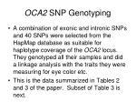 oca2 snp genotyping