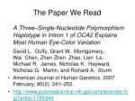 the paper we read