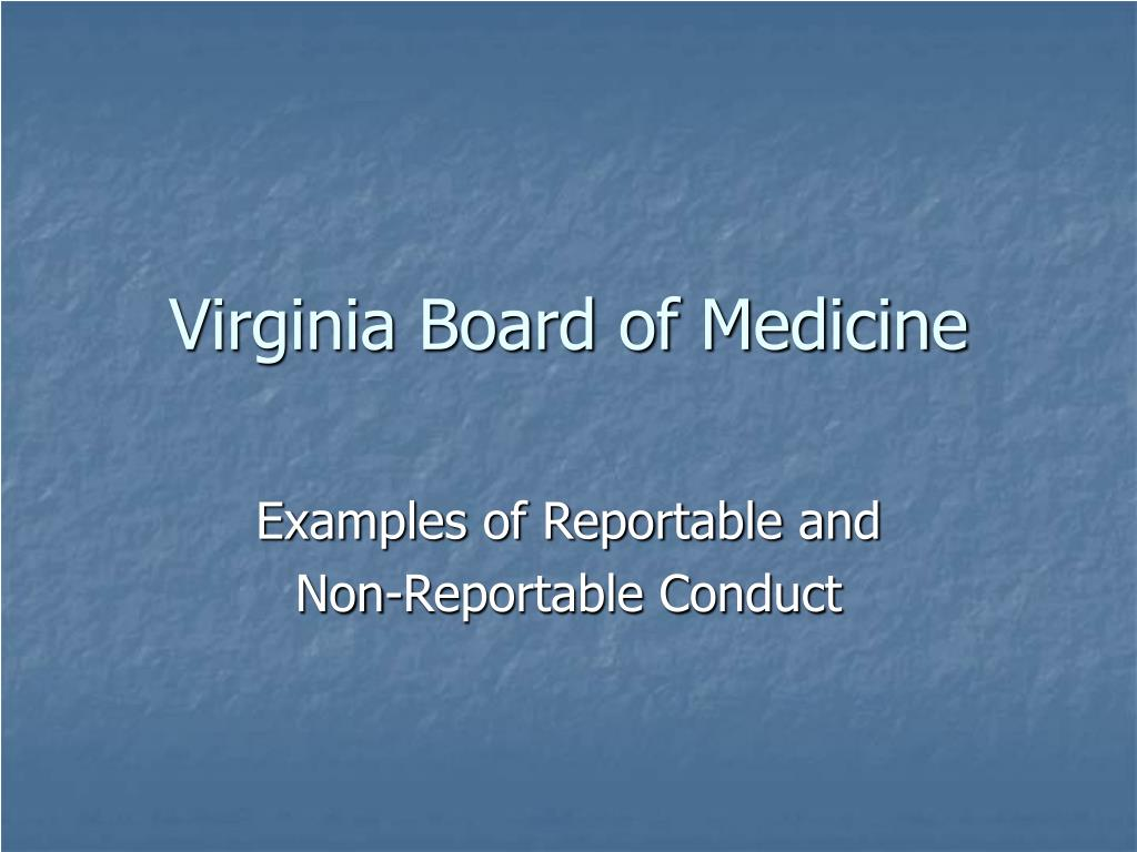 virginia board of medicine