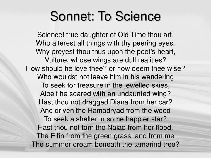 Sonnet: To Science