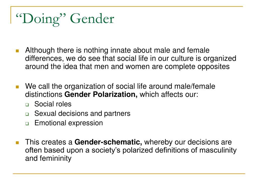 """""""Doing"""" Gender"""