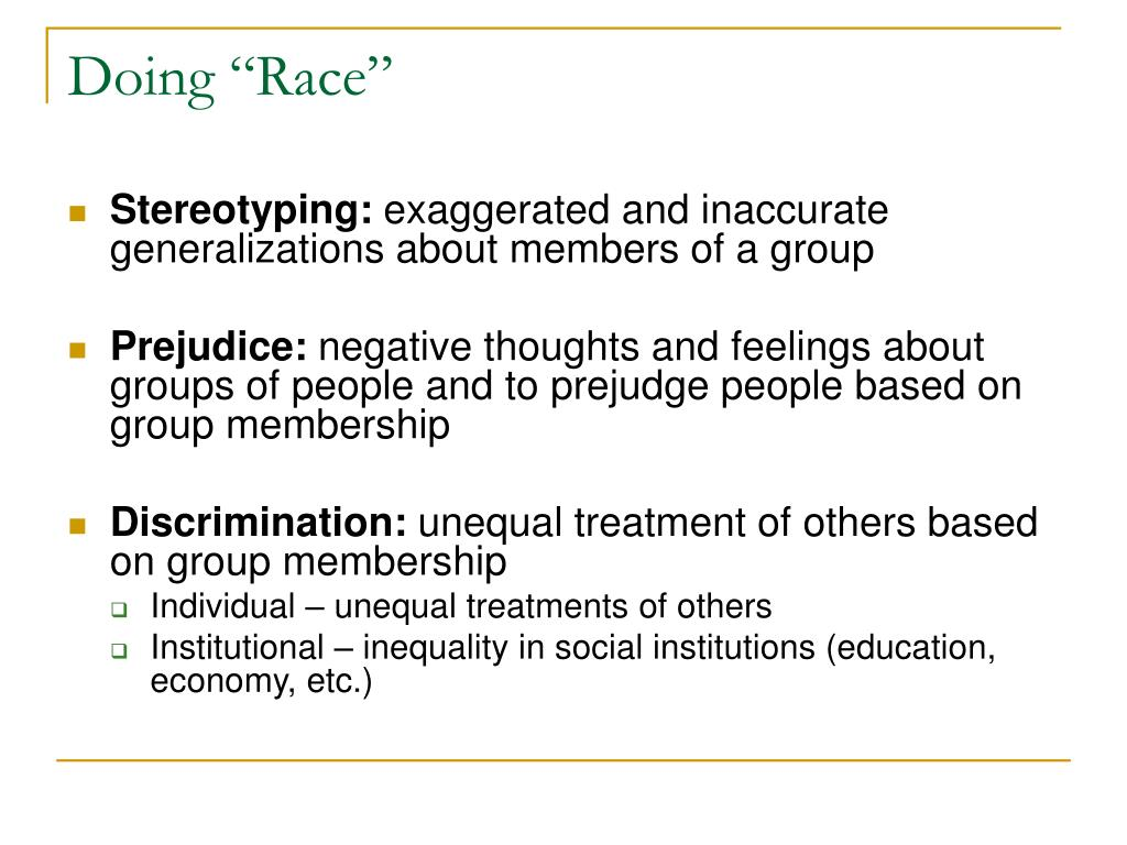 "Doing ""Race"""