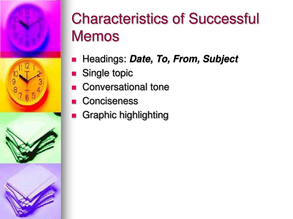 Characteristics of Successful Memos