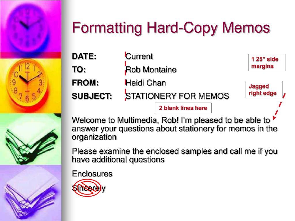 Formatting Hard-Copy Memos