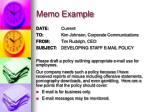memo example