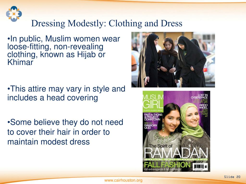 Dressing Modestly: Clothing and Dress