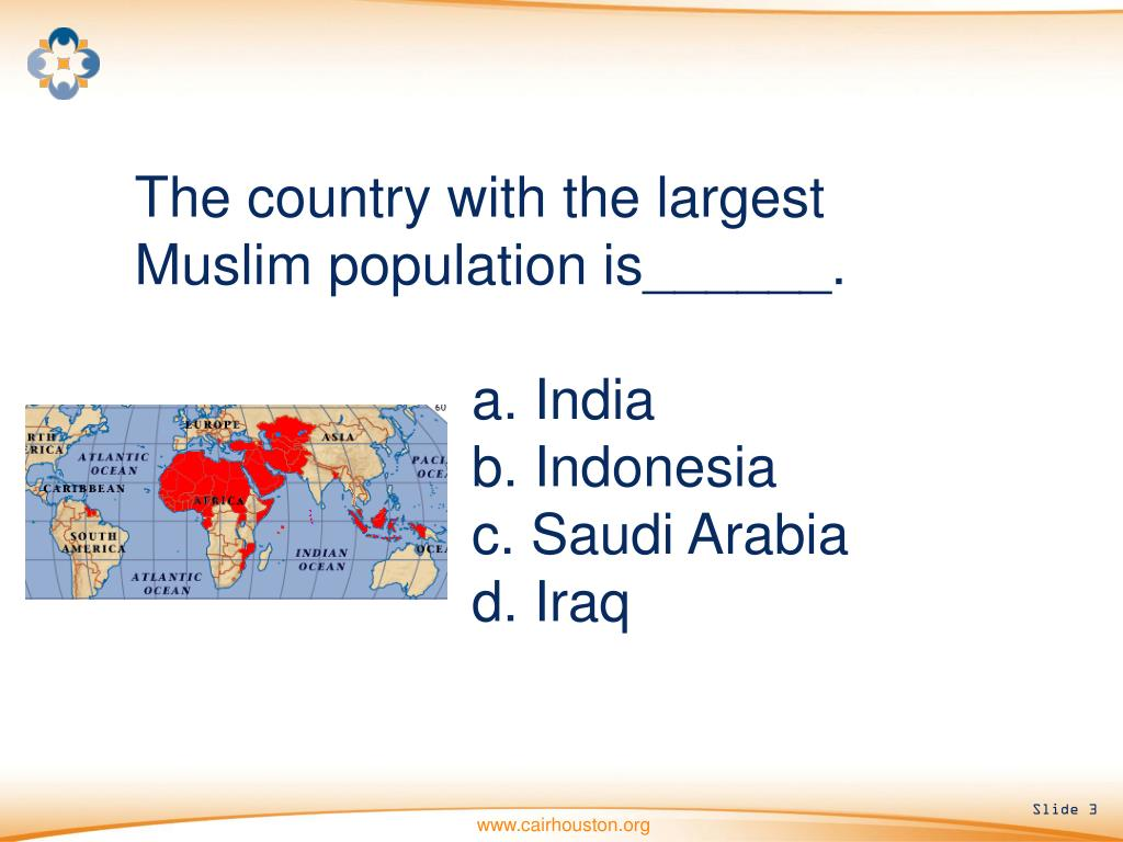 The country with the largest Muslim population is______.