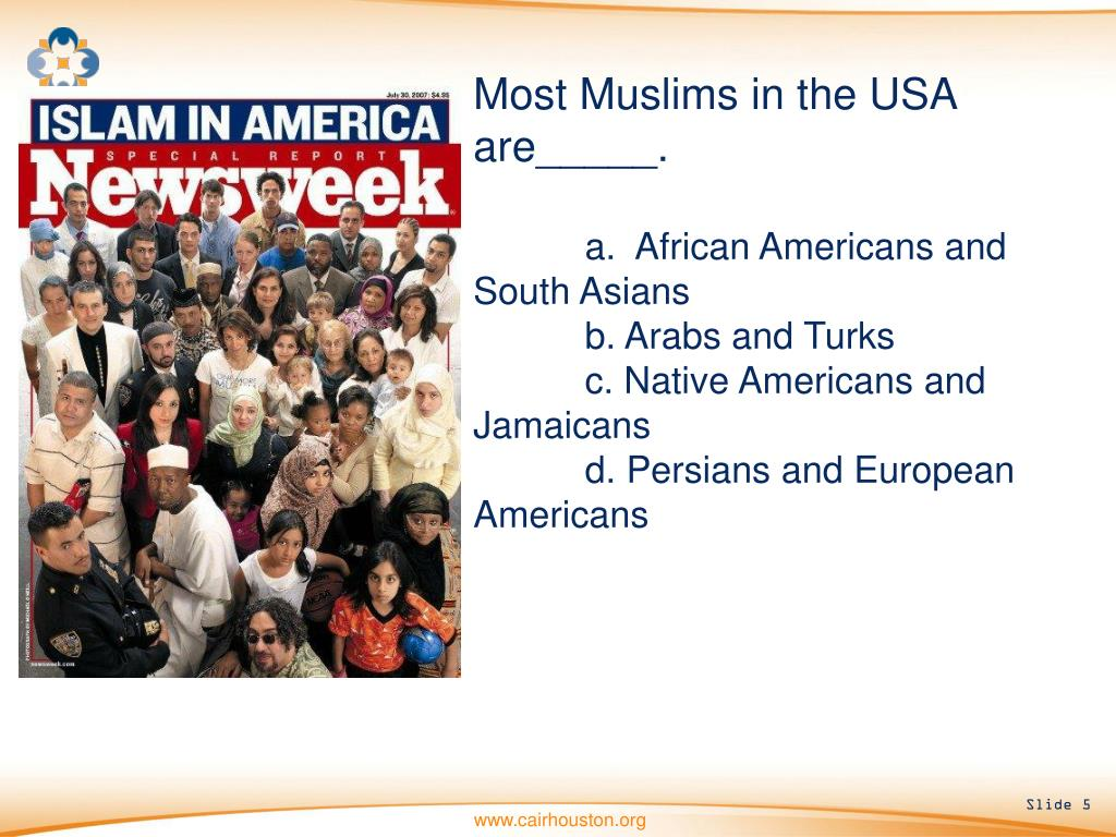 Most Muslims in the USA are_____.