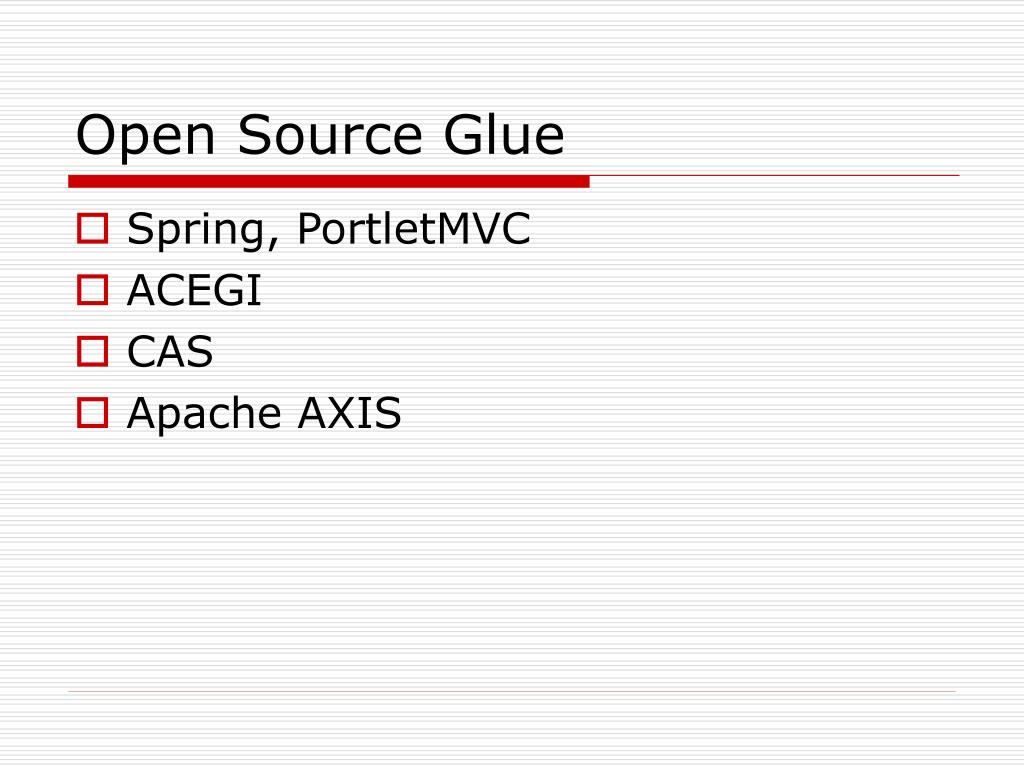 Open Source Glue