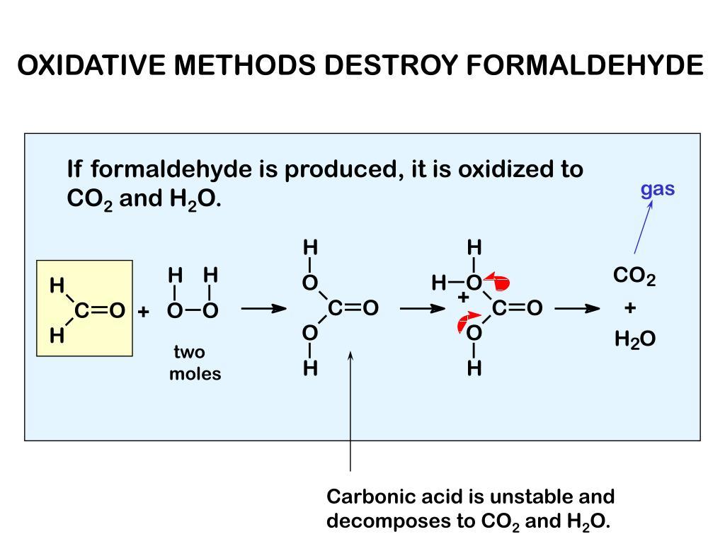 OXIDATIVE METHODS DESTROY FORMALDEHYDE