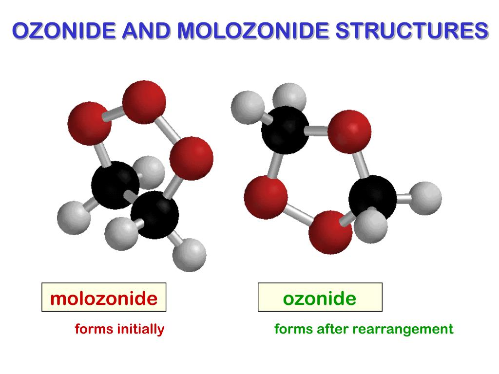 OZONIDE AND MOLOZONIDE STRUCTURES