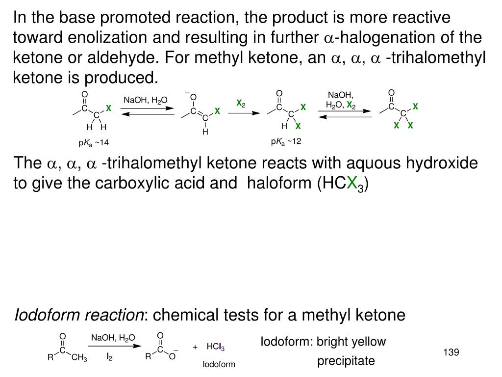 In the base promoted reaction, the product is more reactive