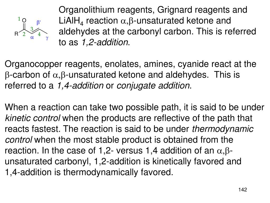 Organolithium reagents, Grignard reagents and