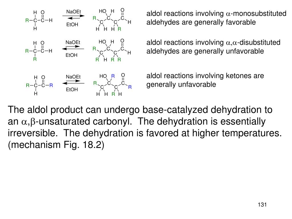 aldol reactions involving