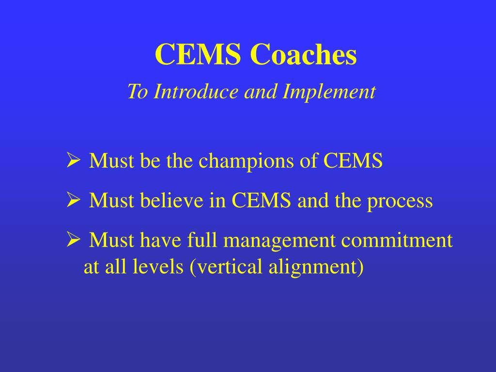 CEMS Coaches