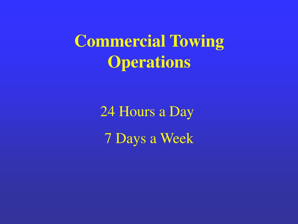 Commercial Towing Operations