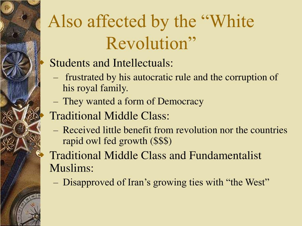 "Also affected by the ""White Revolution"""