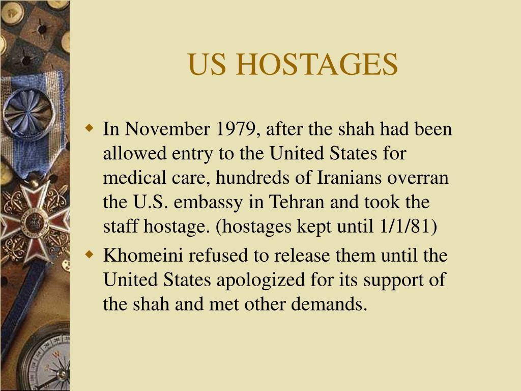 US HOSTAGES