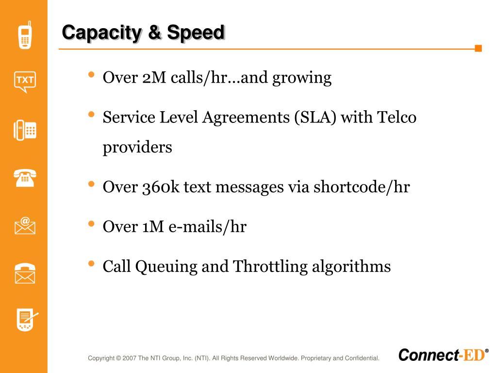 Capacity & Speed