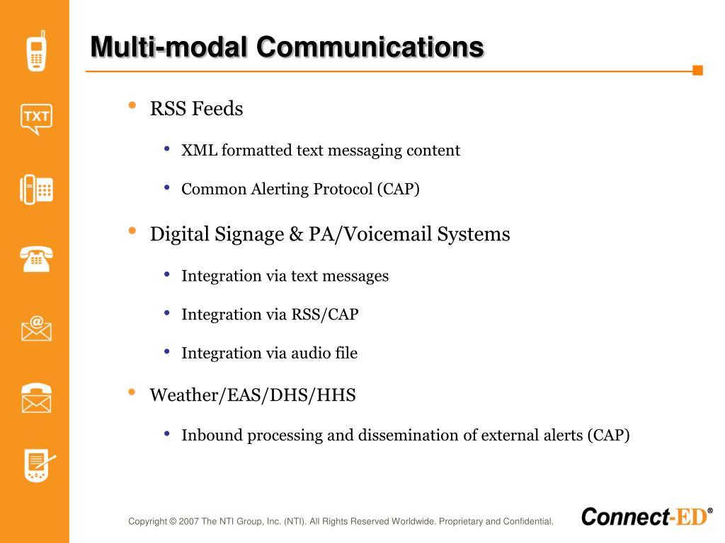 Multi-modal Communications