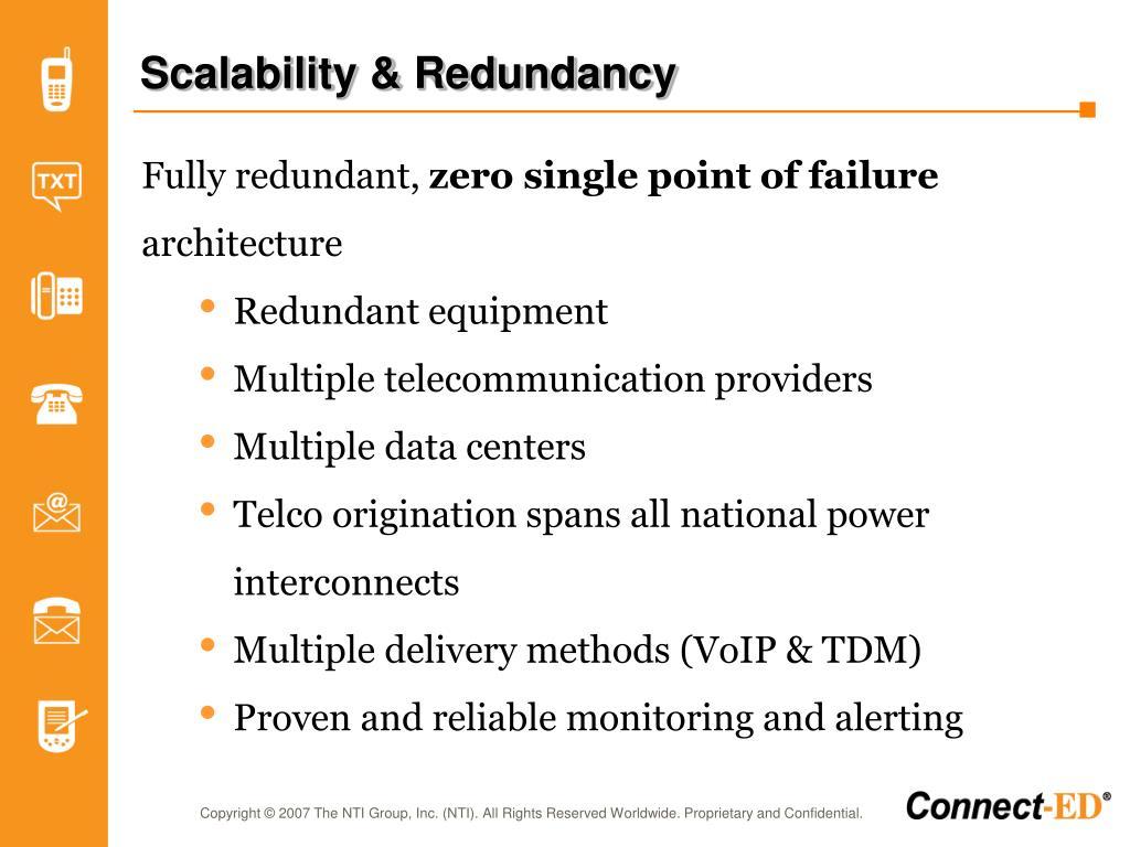 Scalability & Redundancy