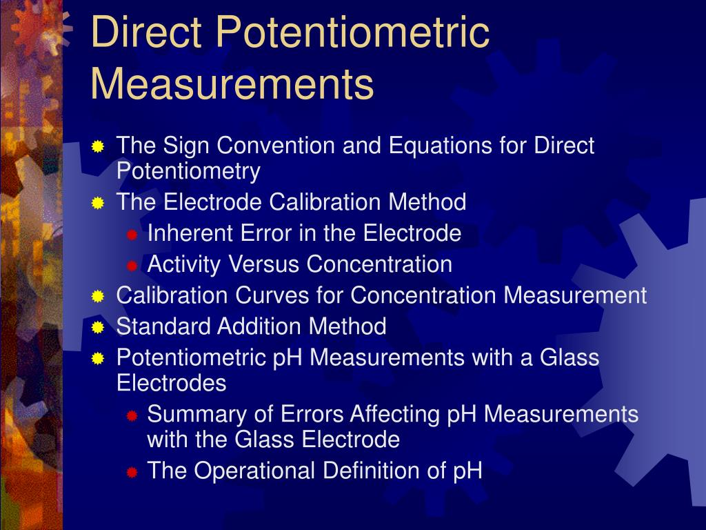 Direct Potentiometric Measurements