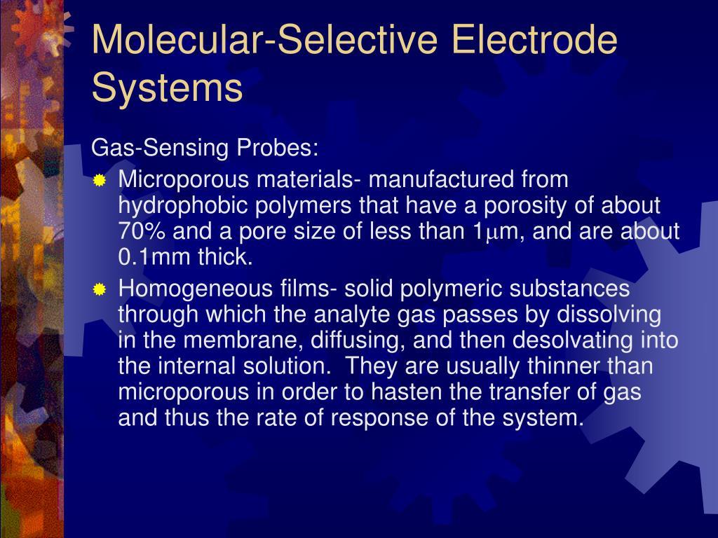 Molecular-Selective Electrode Systems