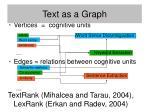 text as a graph25