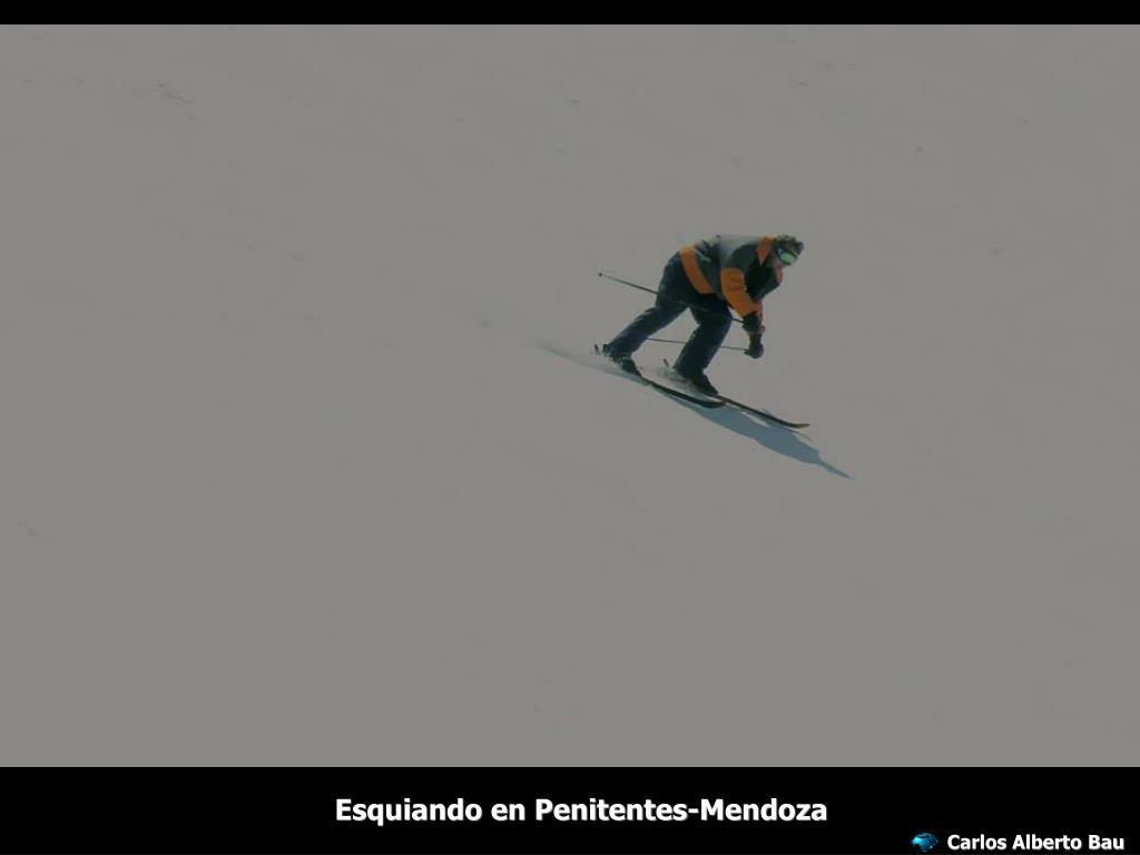 Esquiando en Penitentes-Mendoza