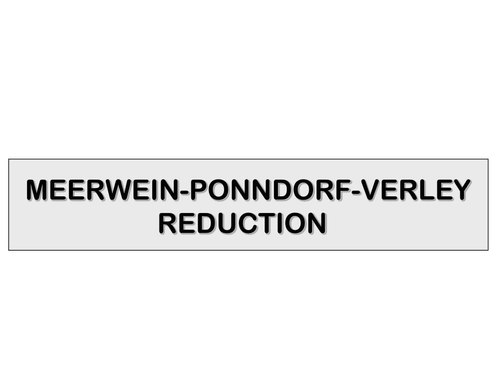 MEERWEIN-PONNDORF-VERLEY
