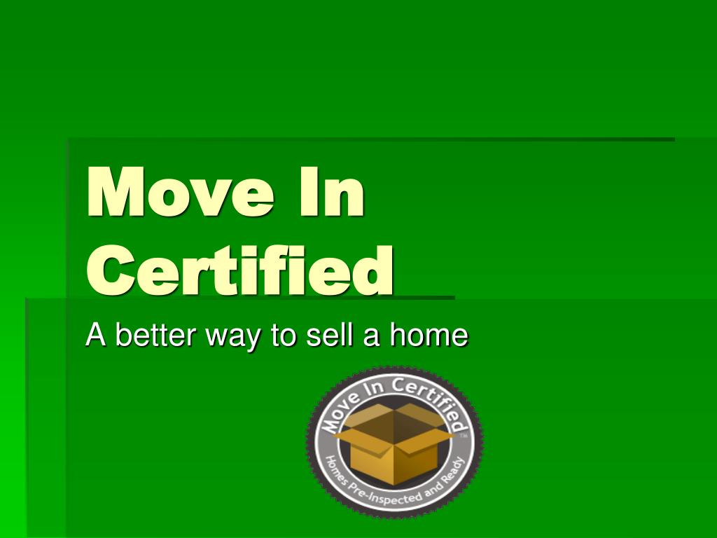 Move In Certified