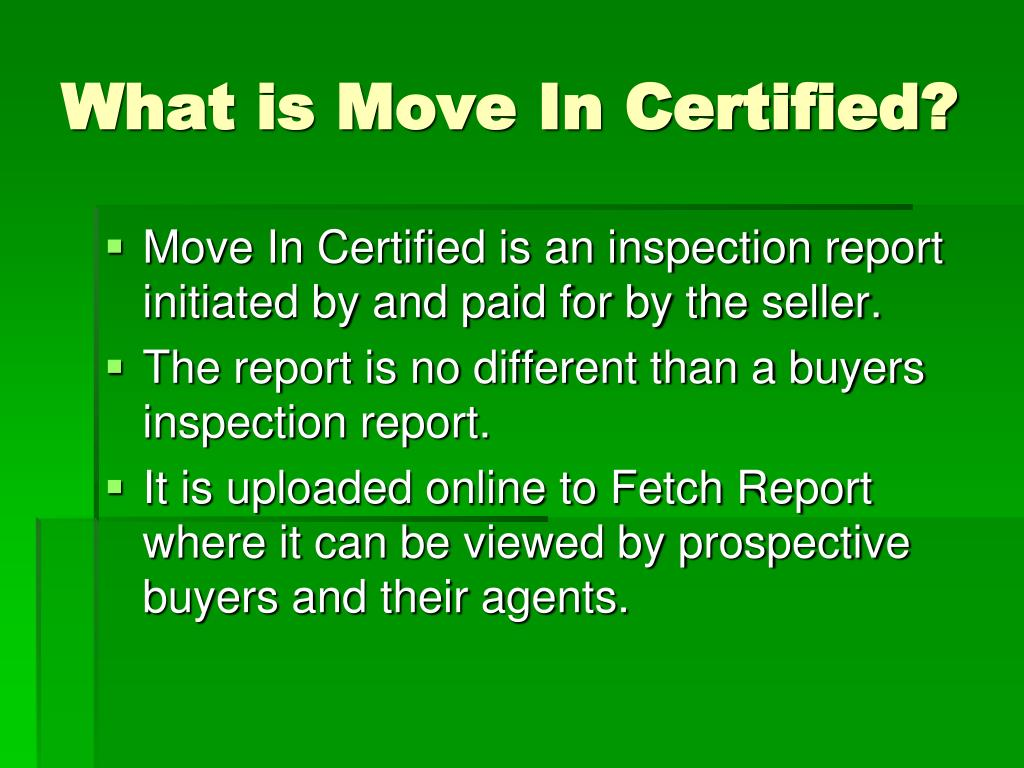 What is Move In Certified?