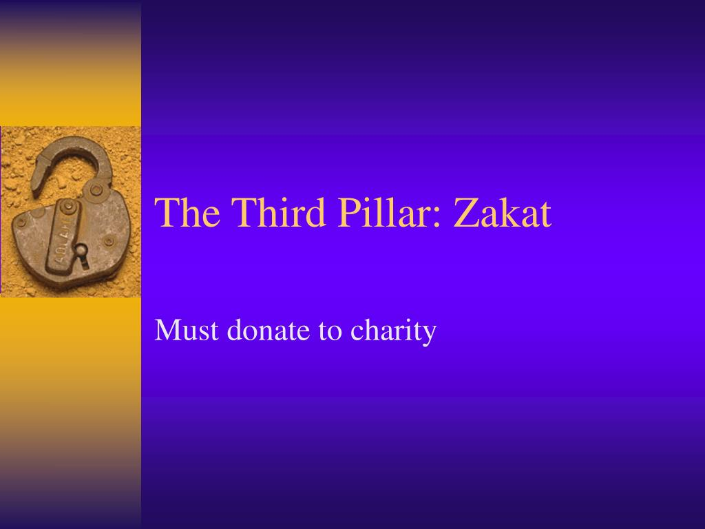 The Third Pillar: Zakat