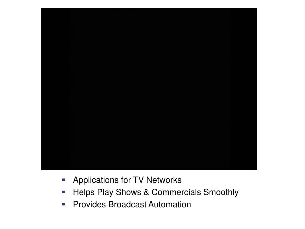 Applications for TV Networks