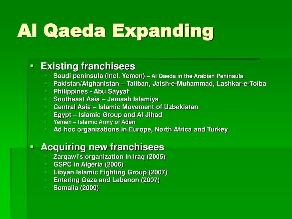 Al Qaeda Expanding