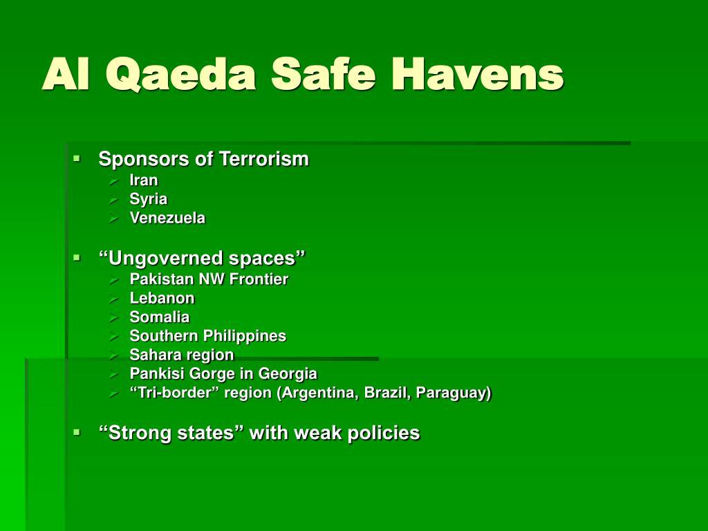 Al Qaeda Safe Havens