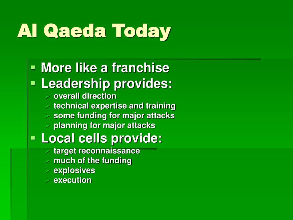 Al Qaeda Today