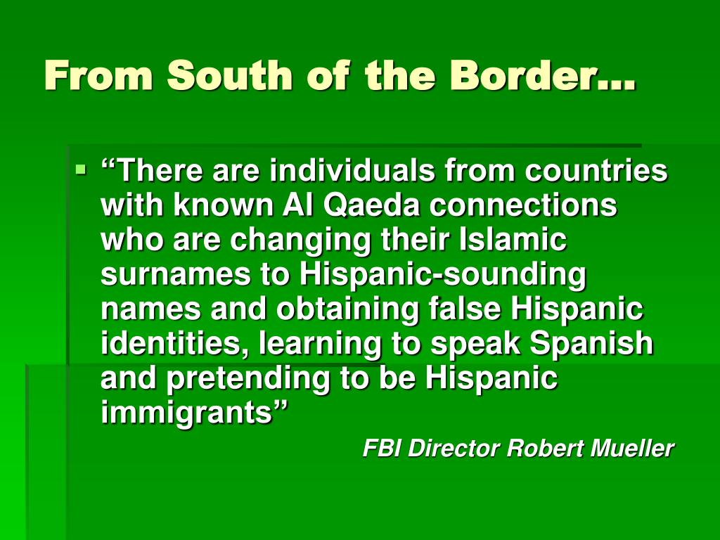 From South of the Border…