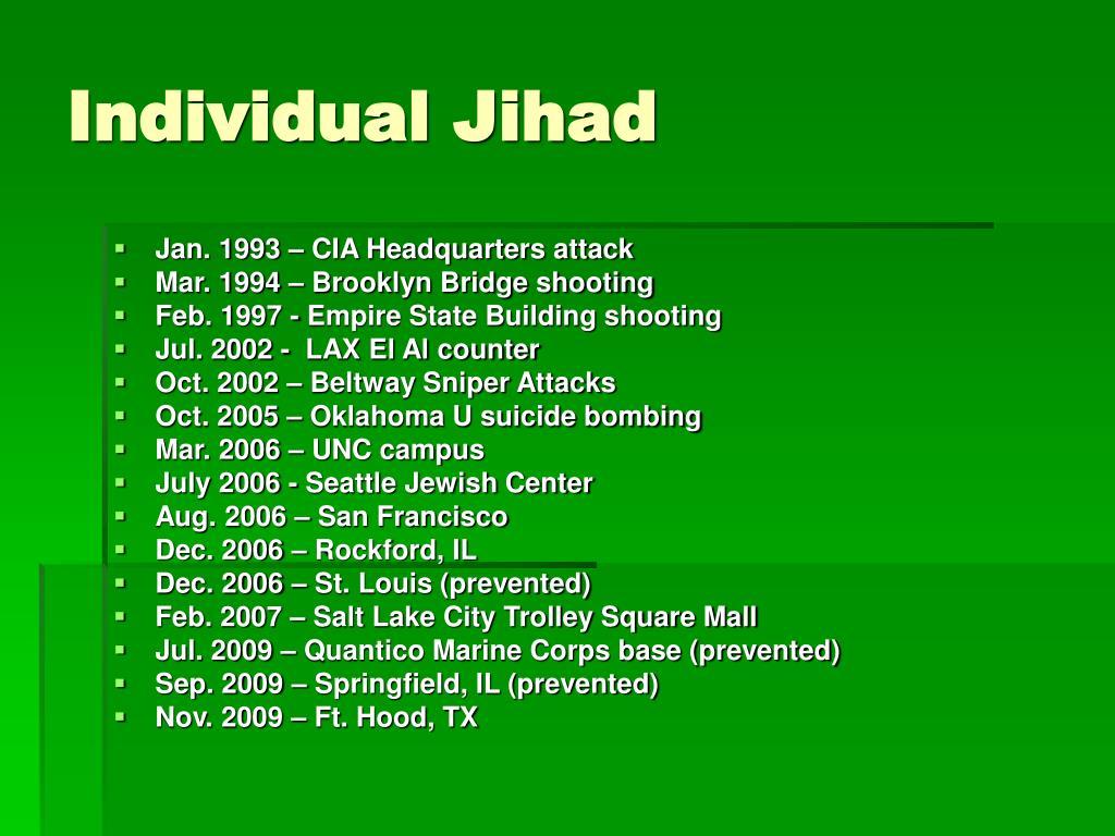 Individual Jihad