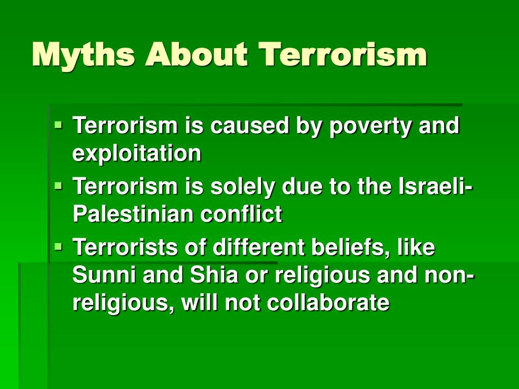 Myths About Terrorism