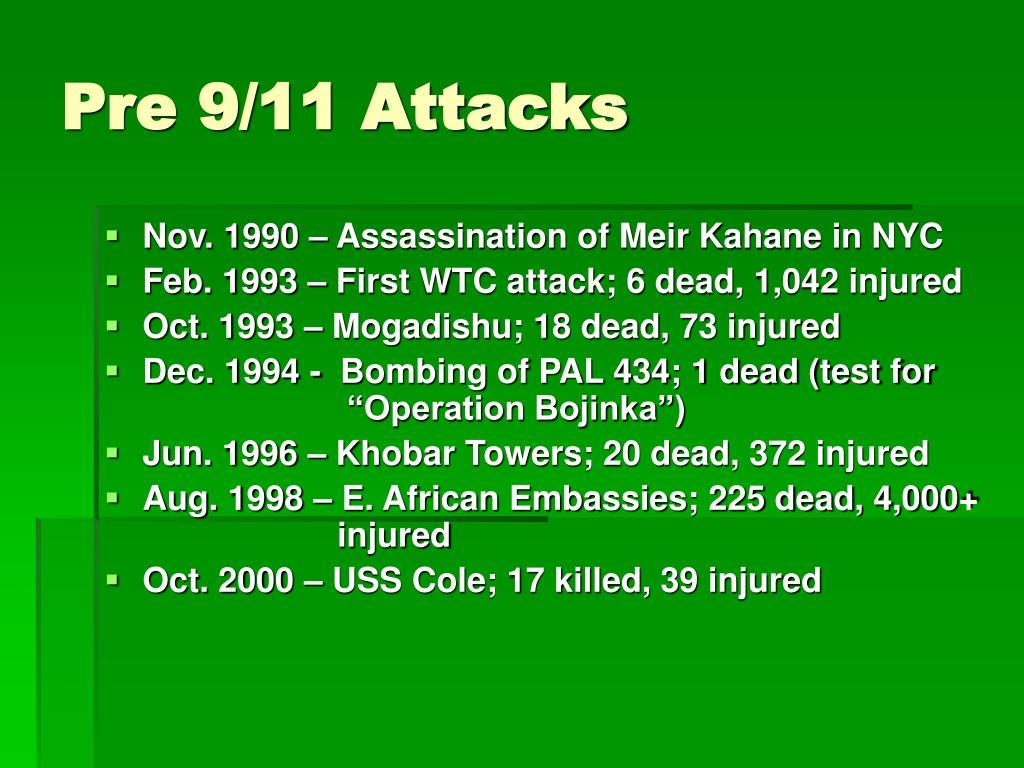 Pre 9/11 Attacks